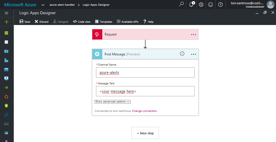 Basic Configuration of the Slack Connector